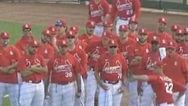 VIDEO: Entire Cardinals Team Watches Jack Flaherty Warm up for Spring Debut in Awesome Gesture