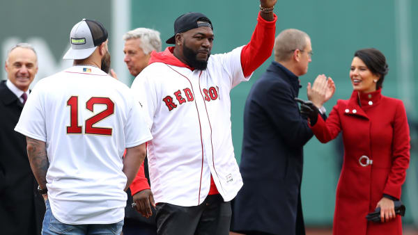 BOSTON, MASSACHUSETTS - APRIL 09:  Former MLB player David Ortiz waves before the home opener between the Boston Red Sox and the Toronto Blue Jays at Fenway Park on April 09, 2019 in Boston, Massachusetts. (Photo by Maddie Meyer/Getty Images)