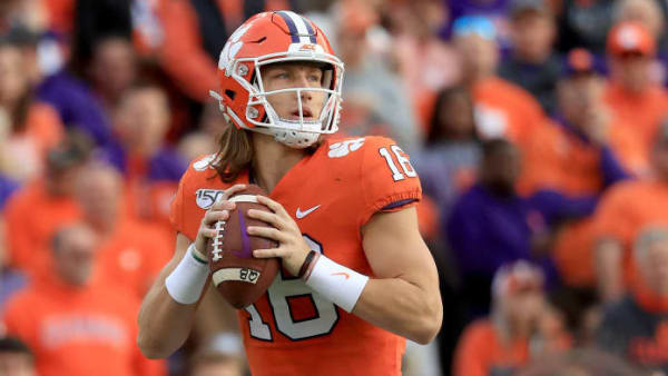 CLEMSON, SOUTH CAROLINA - NOVEMBER 16: Trevor Lawrence #16 of the Clemson Tigers drops back to pass against the Wake Forest Demon Deacons during their game at Memorial Stadium on November 16, 2019 in Clemson, South Carolina. (Photo by Streeter Lecka/Getty Images)