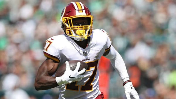PHILADELPHIA, PENNSYLVANIA - SEPTEMBER 08: Wide receiver Terry McLaurin #17 of the Washington Redskins scores a touchdown against the Philadelphia Eagles during the first half at Lincoln Financial Field on September 8, 2019 in Philadelphia, Pennsylvania. (Photo by Patrick Smith/Getty Images)