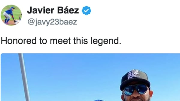 Javier Baez Posts Photo With Yankees 'Legend' CC Sabathia Ahead of Cubs' Spring Training Game