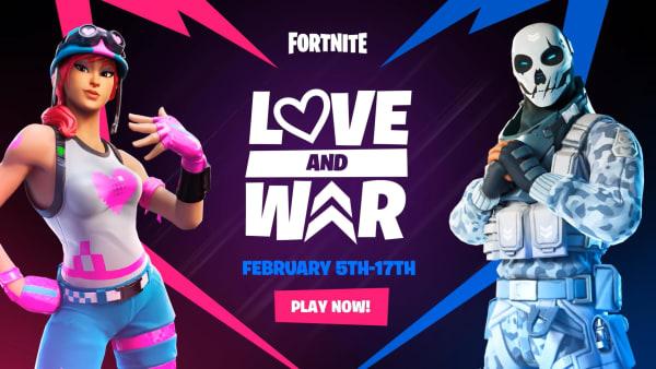 "Fortnite ""Love and War"" event screengrab."