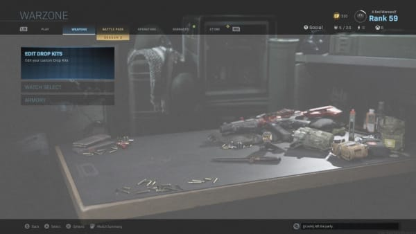 In-game glitch appears to show Warzone menu