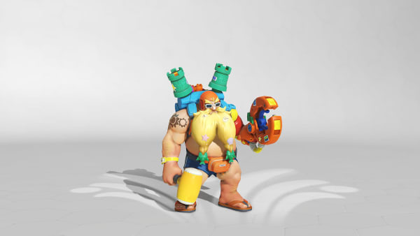 Surf 'N' Splash Torbjörn is now available in the Overwatch Summer Games.
