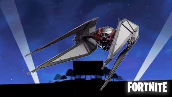 TIE Fighter Crash Sites in Fortnite