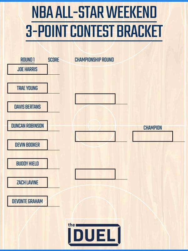 Printable NBA 3-Point Contest Bracket