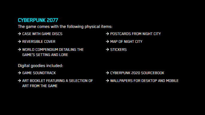 Cyberpunk 2077 Pre-Order Bonuses: What Are They? | dbltap