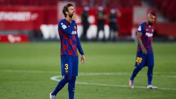 Sevilla 0-0 Barcelona: Catalans Drop Points & Gerard Pique ...