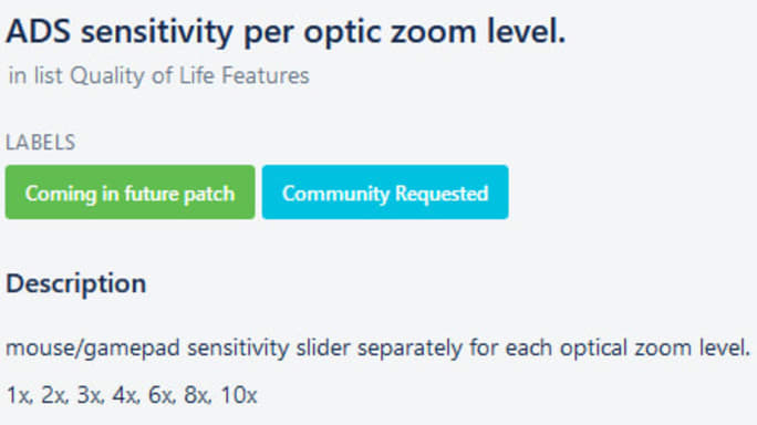 Apex Legends Zoom Sensitivity