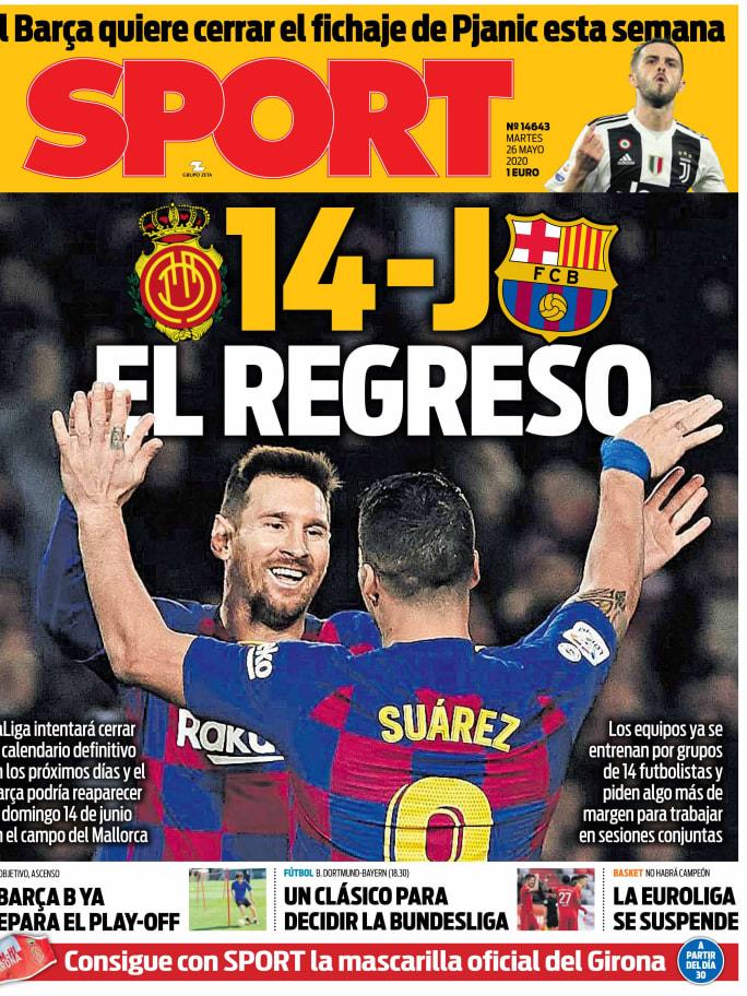 El Klassiker decisivo para la Bundesliga y la posible fecha de retorno del FC Barcelona en LaLiga, en las portadas 4