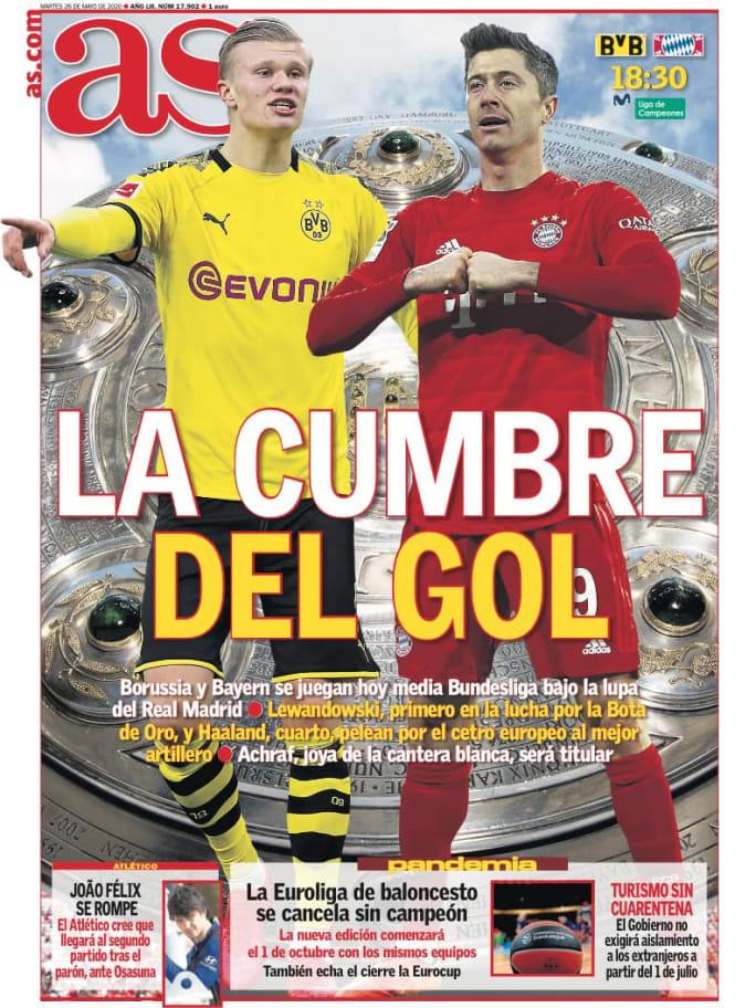 El Klassiker decisivo para la Bundesliga y la posible fecha de retorno del FC Barcelona en LaLiga, en las portadas 3