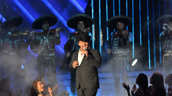 MIAMI, FL - APRIL 25: Juan Rivera performs at Billboard Latin Music Awards 2013 at Bank United Center on April 25, 2013 in Miami, Florida. (Photo by Rodrigo Varela/Getty Images)