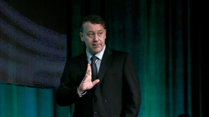 BEVERLY HILLS, CA - JULY 31:  Executive producer/director Sam Raimi speaks onstage during the 'Ash vs. Evil Dead' panel discussion at the STARZ portion of the 2015 Summer TCA Tour at The Beverly Hilton Hotel on July 31, 2015 in Beverly Hills, California.  (Photo by Frederick M. Brown/Getty Images)