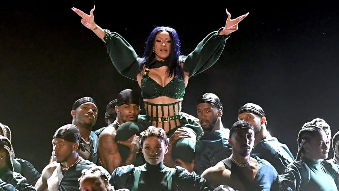 LOS ANGELES, CALIFORNIA - JUNE 23: Cardi B performs onstage at the 2019 BET Awards on June 23, 2019 in Los Angeles, California. (Photo by Kevin Winter/Getty Images)