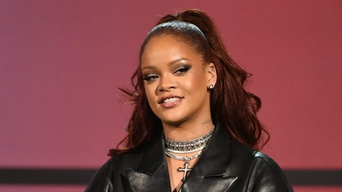 LOS ANGELES, CALIFORNIA - JUNE 23: Rihanna speaks onstage at the 2019 BET Awards on June 23, 2019 in Los Angeles, California. (Photo by Kevin Winter/Getty Images)