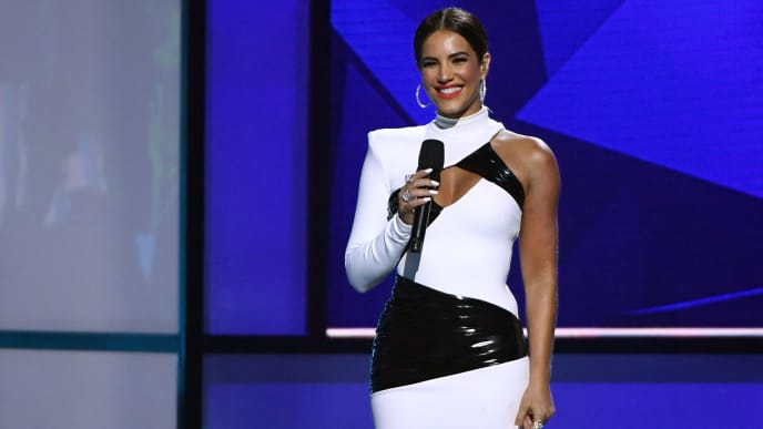 LAS VEGAS, NEVADA - APRIL 25:  Gaby Espino speaks during the 2019 Billboard Latin Music Awards at the Mandalay Bay Events Center on April 25, 2019 in Las Vegas, Nevada.  (Photo by Ethan Miller/Getty Images)