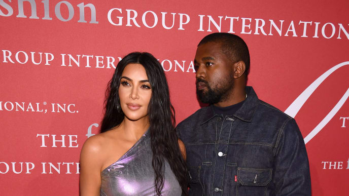 NEW YORK, NEW YORK - OCTOBER 24: Kanye West and Kim Kardashian West attend the 2019 FGI Night Of Stars Gala at Cipriani Wall Street on October 24, 2019 in New York City. (Photo by Dimitrios Kambouris/Getty Images)
