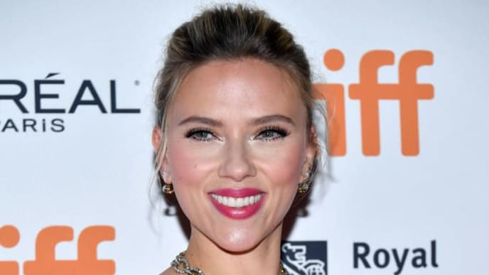 "TORONTO, ONTARIO - SEPTEMBER 08: Scarlett Johansson attends the ""Jojo Rabbit"" premiere during the 2019 Toronto International Film Festival at Princess of Wales Theatre on September 08, 2019 in Toronto, Canada. (Photo by Amy Sussman/Getty Images)"