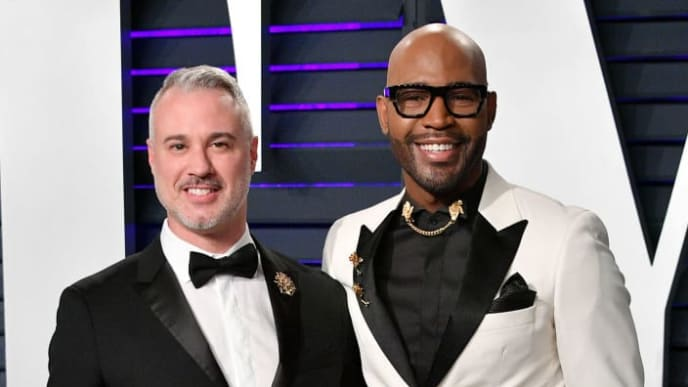 BEVERLY HILLS, CA - FEBRUARY 24:  Ian Jordan (L) and Karamo Brown attend the 2019 Vanity Fair Oscar Party hosted by Radhika Jones at Wallis Annenberg Center for the Performing Arts on February 24, 2019 in Beverly Hills, California.  (Photo by Dia Dipasupil/Getty Images)