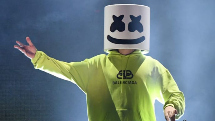 LAS VEGAS, NEVADA - SEPTEMBER 21:  Marshmello performs onstage during the 2019 iHeartRadio Music Festival at T-Mobile Arena on September 21, 2019 in Las Vegas, Nevada.  (Photo by Ethan Miller/Getty Images)