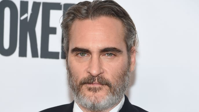 "NEW YORK, NEW YORK - OCTOBER 02: Joaquin Phoenix attends the 57th New York Film Festival ""Joker"" Arrivals at Alice Tully Hall, Lincoln Center on October 02, 2019 in New York City. (Photo by Jamie McCarthy/Getty Images for Film at Lincoln Center)"