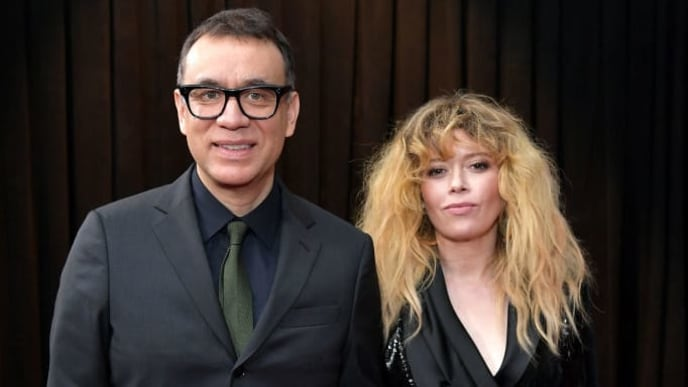 LOS ANGELES, CA - FEBRUARY 10:  (L-R) Fred Armisen and Natasha Lyonne attend the 61st Annual GRAMMY Awards at Staples Center on February 10, 2019 in Los Angeles, California.  (Photo by Neilson Barnard/Getty Images for The Recording Academy)