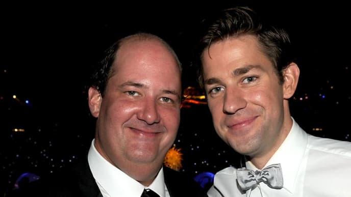 'The Office' co-stars John Krasinski and Brian Baumgartner reunited and documented it on social