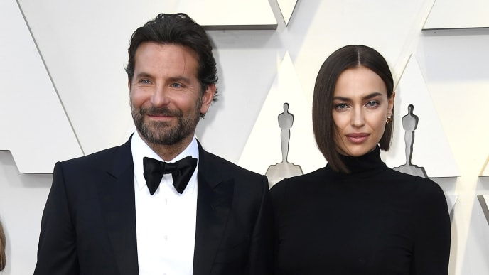 HOLLYWOOD, CALIFORNIA - FEBRUARY 24: (L-R) Gloria Campano, Bradley Cooper and Irina Shayk attends the 91st Annual Academy Awards at Hollywood and Highland on February 24, 2019 in Hollywood, California. (Photo by Frazer Harrison/Getty Images)