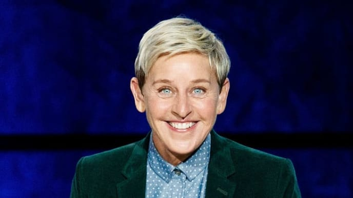 """VANCOUVER, BC - OCTOBER 19:  Comedian Ellen DeGeneres seen onstage during """"A Conversation With Ellen DeGeneres"""" at Rogers Arena on October 19, 2018 in Vancouver, Canada.  (Photo by Andrew Chin/Getty Images)"""