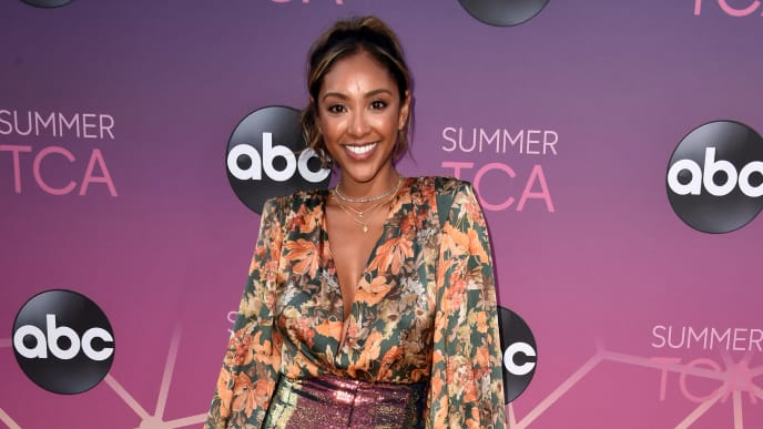 WEST HOLLYWOOD, CALIFORNIA - AUGUST 05: Tayshia Adams attends ABC's TCA Summer Press Tour Carpet Event on August 05, 2019 in West Hollywood, California. (Photo by Alberto E. Rodriguez/Getty Images)