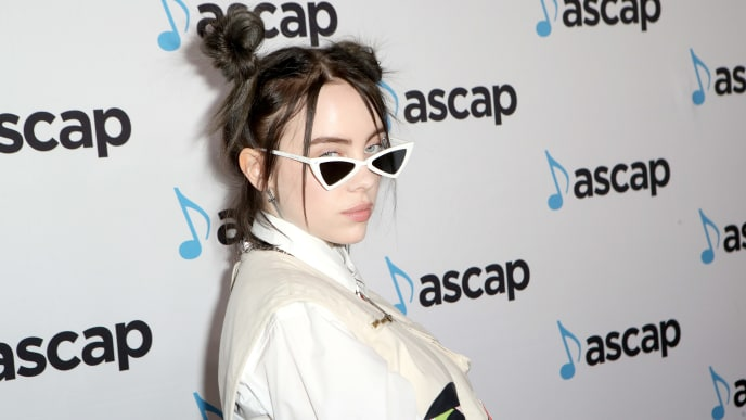 BEVERLY HILLS, CA - MAY 16:  Billie Eilish attends the ASCAP 2019 Pop Music Awards at The Beverly Hilton Hotel on May 16, 2019 in Beverly Hills, California.  (Photo by Ari Perilstein/Getty Images for ASCAP)