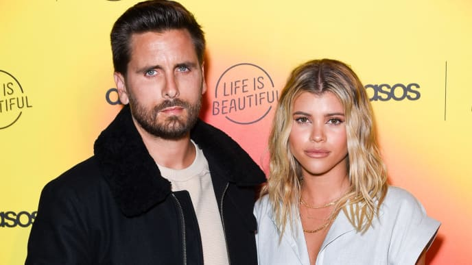 LOS ANGELES, CALIFORNIA - APRIL 25: Scott Disick and Sofia Richie attend ASOS celebrates partnership with Life Is Beautiful at No Name on April 25, 2019 in Los Angeles, California. (Photo by Presley Ann/Getty Images)