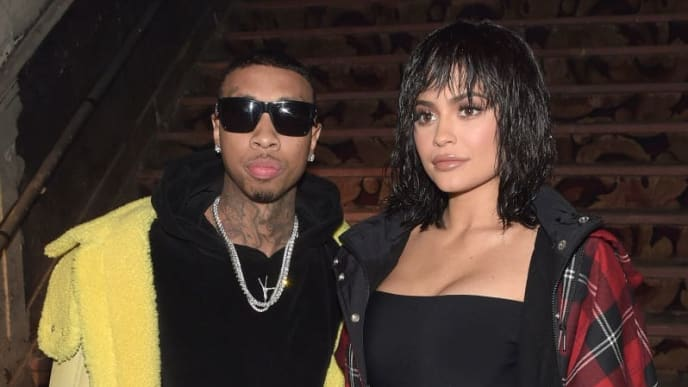 NEW YORK, NY - FEBRUARY 11:  Tyga (L) and Kylie Jenner attend the Alexander Wang February 2017 fashion show during New York Fashion Week on February 11, 2017 in New York City.  (Photo by Jason Kempin/Getty Images)