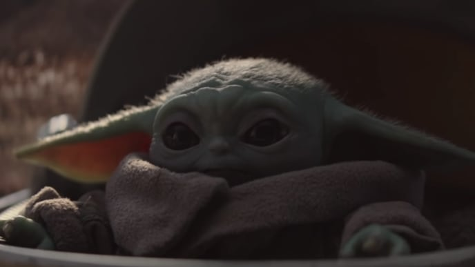 Baby Yoda or The Child from 'Star Wars: The Mandalorian'