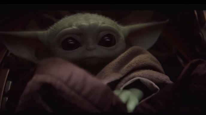 """The Child, nicknamed """"Baby Yoda"""" in 'Star Wars: The Rise of Skywalker'"""