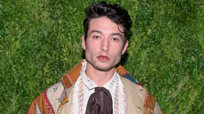 BROOKLYN, NY - NOVEMBER 05:  Ezra Miller attends the CFDA / Vogue Fashion Fund 15th Anniversary Event at Brooklyn Navy Yard on November 5, 2018 in Brooklyn, New York.  (Photo by Roy Rochlin/Getty Images)