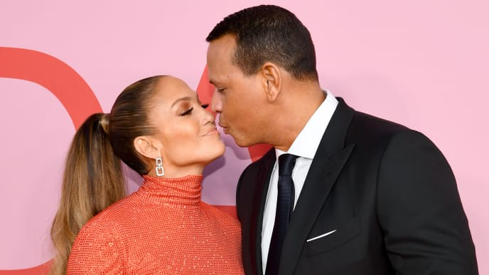 NEW YORK, NEW YORK - JUNE 03: Jennifer Lopez and Alex Rodriguez attend the CFDA Fashion Awards at the Brooklyn Museum of Art on June 03, 2019 in New York City. (Photo by Dimitrios Kambouris/Getty Images)