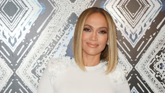 """MIAMI, FL - SEPTEMBER 13:  Jennifer Lopez is seen on the set of """"Un Nuevo Dia"""" at Telemundo Center to promote the film """"Hustlers"""" on September 13, 2019 in Miami, Florida.  (Photo by Alexander Tamargo/Getty Images)"""