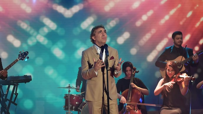 MIAMI, FL - MARCH 01:  Cristian Castro is seen sings on the set of 'Despierta America' at Univision Studios on March 1, 2017 in Miami, Florida.  (Photo by Gustavo Caballero/Getty Images)