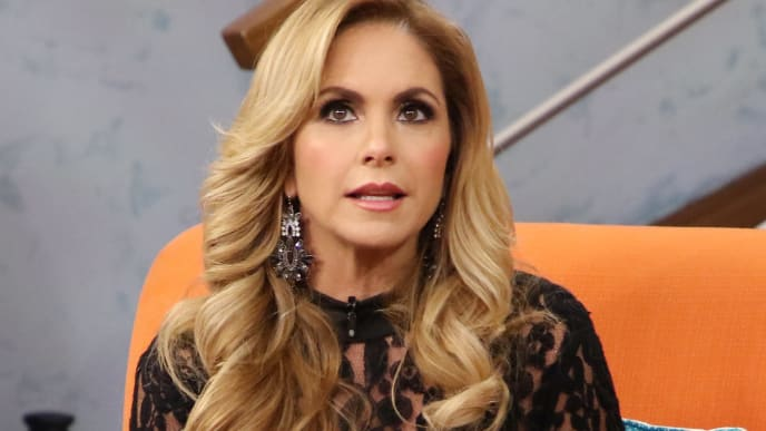 """MIAMI, FL - MAY 22:  Lucero is seen on the set of """"Despierta America"""" at Univision Studios on May 22, 2017 in Miami, Florida.  (Photo by Alexander Tamargo/Getty Images)"""