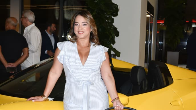 MIAMI, FL - OCTOBER 12:  Adamari Lopez Attends Cybex For Scuderia Ferrari Launch Party on October 12, 2018 in Miami, Florida. (Photo by Romain Maurice/Getty Images for Haute Living)