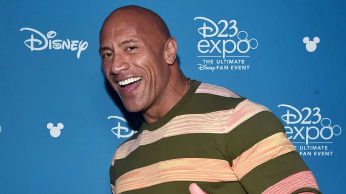 ANAHEIM, CALIFORNIA - AUGUST 24: Dwayne Johnson of 'Jungle Cruise' took part today in the Walt Disney Studios presentation at Disney's D23 EXPO 2019 in Anaheim, Calif.  'Jungle Cruise' will be released in U.S. theaters on July 24, 2020. (Photo by Alberto E. Rodriguez/Getty Images for Disney)