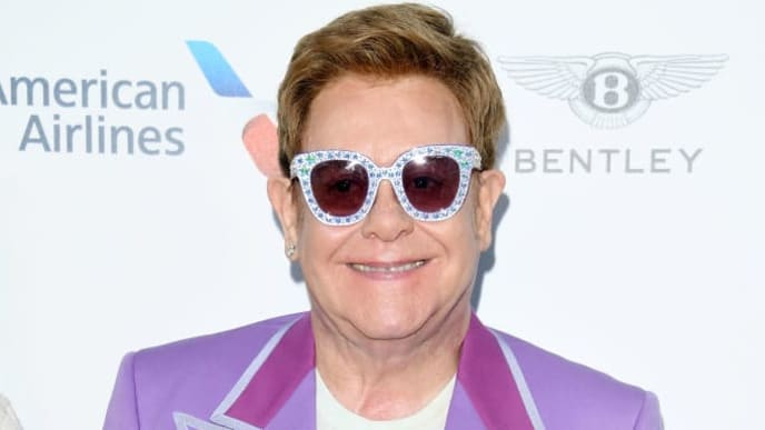 "ANTIBES, FRANCE - JULY 24: Sir Elton John attends the first ""Midsummer Party"" hosted by Elton John and David Furnish to raise funds for the Elton John Aids Foundation on July 24, 2019 in Antibes, France. (Photo by Daniele Venturelli/Daniele Venturelli/Getty Images )"