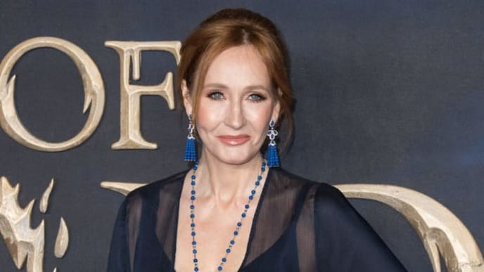 """LONDON, ENGLAND - NOVEMBER 13: J.K Rowling attends the UK Premiere of """"Fantastic Beasts: The Crimes Of Grindelwald"""" at Cineworld Leicester Square on November 13, 2018 in London, England. (Photo by Jeff Spicer/Getty Images)"""