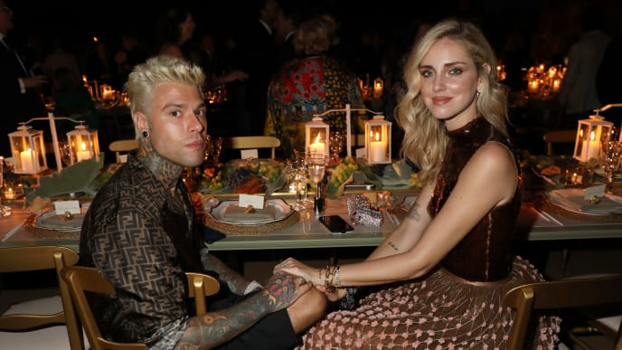 ROME, ITALY - JULY 04: Fedez and Chiara Ferragni attend the Fendi Couture Fall Winter 2019/2020 Dinner on July 04, 2019 in Rome, Italy. (Photo by Elisabetta Villa/Getty Images for Fendi)