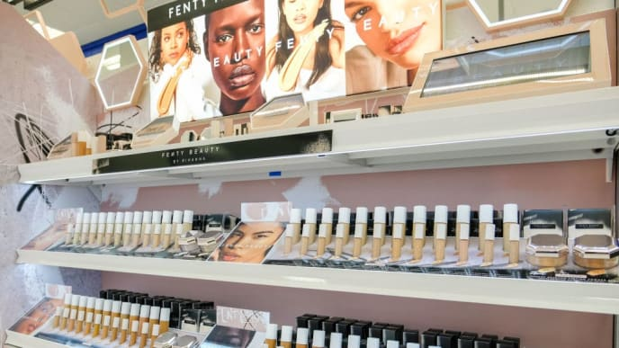 NEWCASTLE UPON TYNE, UNITED KINGDOM - MAY 10: Fenty Beauty will be available in 32 Boots locations. For the ultimate convenience, you can even place your order online with Order and Collect on May 10, 2019 in Newcastle Upon Tyne, United Kingdom. (Photo by Ian Forsyth/Getty Images for Fenty Beauty)