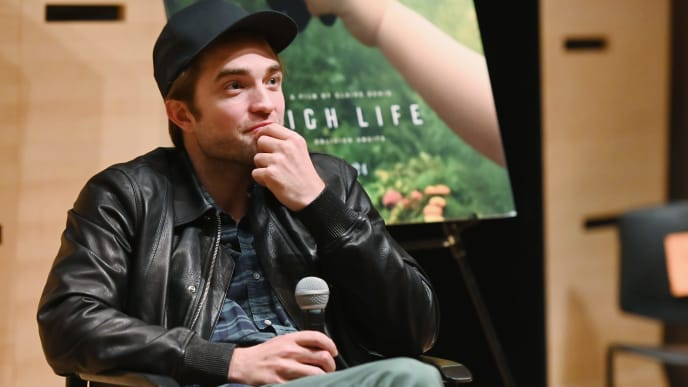 "NEW YORK, NEW YORK - APRIL 04: Robert Pattinson speaks at The Film Society of Lincoln Center's Film Comment Free Talk for ""High Life"" at Elinor Bunin Munroe Film Center on April 04, 2019 in New York City. (Photo by Nicholas Hunt/Getty Images)"