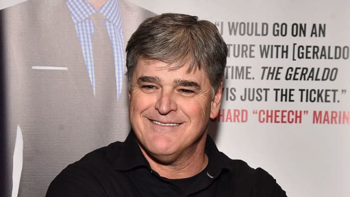 "NEW YORK, NY - APRIL 02:  Sean Hannity attends Geraldo Rivera Launches His New Book ""The Geraldo Show: A Memoir"" at Del Frisco's Grille on April 2, 2018 in New York City.  (Photo by Theo Wargo/Getty Images)"