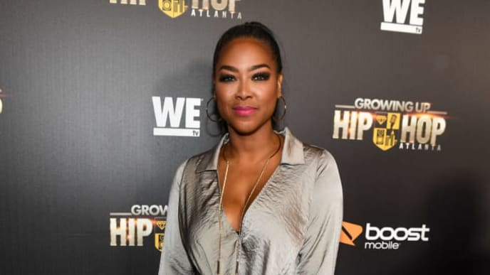 "ATLANTA, GA - JANUARY 09:  Kenya Moore attends ""Growing Up Hip Hop Atlanta"" season 2 premiere party at Woodruff Arts Center on January 9, 2018 in Atlanta, Georgia.  (Photo by Paras Griffin/Getty Images for WEtv)"