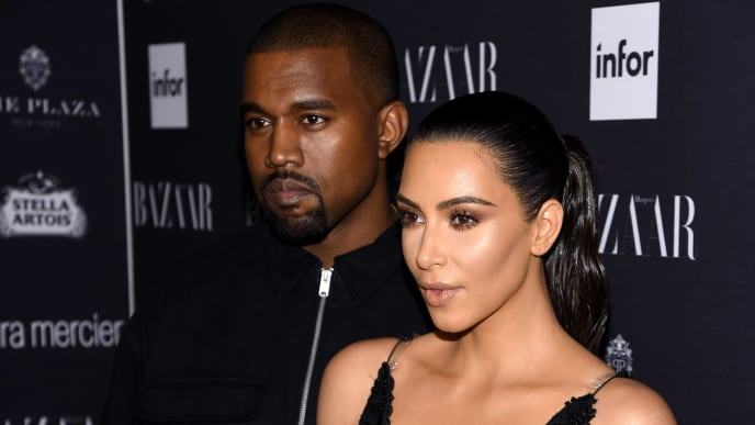 """NEW YORK, NY - SEPTEMBER 09:  Kanye West and Kim Kardashian West attend Harper's Bazaar's celebration of """"ICONS By Carine Roitfeld"""" presented by Infor, Laura Mercier, and Stella Artois  at The Plaza Hotel on September 9, 2016 in New York City.  (Photo by Dimitrios Kambouris/Getty Images for Harper's Bazaar)"""